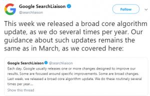 Actualizarea algoritmului Google
