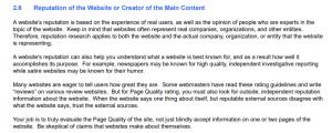 Despre reputatia site-ului din regulamentul Google