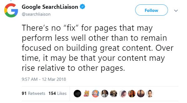 Ca sa iti revii dupa aceasta actualizare majora de baza concentreaza-te pe content