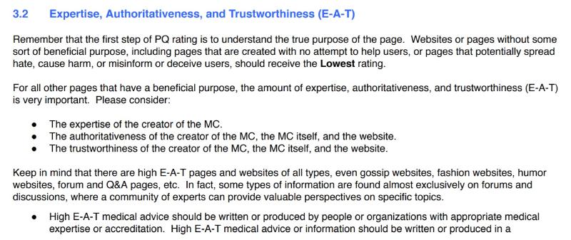 Despre expertiza, autoritate si incredere in raport cu ceea ce presupune SEO in 2020 - informatii direct de la Google.