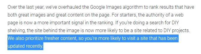 Informatii despre cum Google considera prioritar continutul nou si fresh
