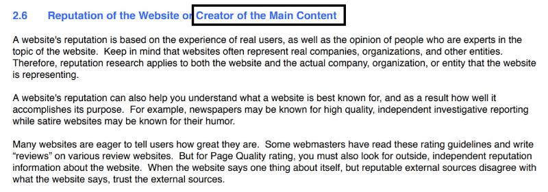 Informatii direct de la Google despre cat de important este ca cel care iti creeaza continutul sa fie profesionist.